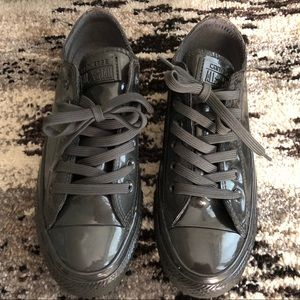 NWT Converse all leather in gray size 6.5